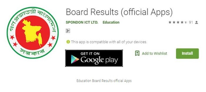 Education result by apps