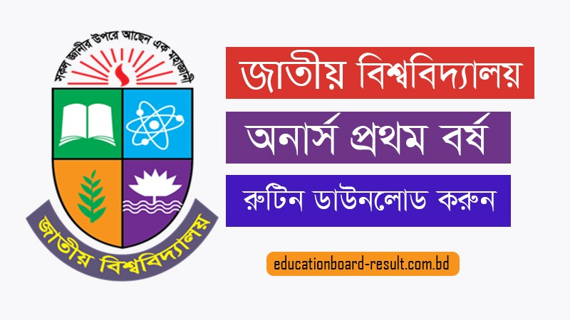 Honours 1st Year Exam Routine 2019