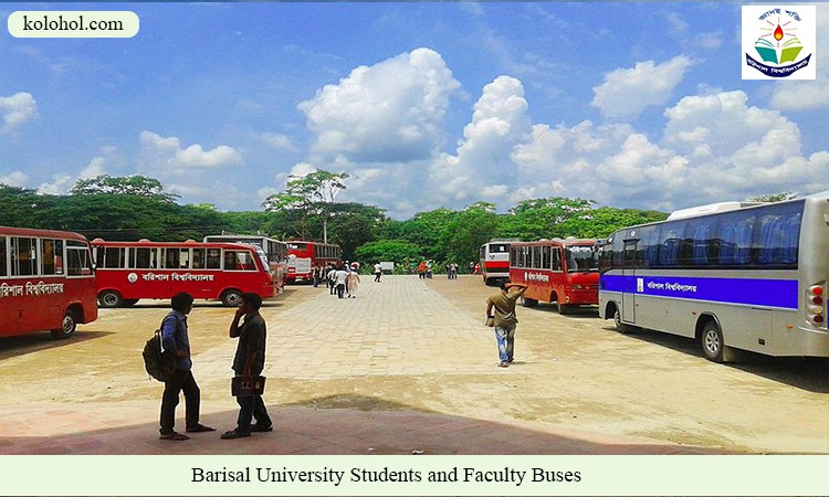 Barisal University Students and faculty buses